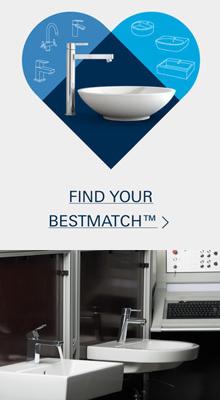 GROHE BestMatch: ideale match van wastafel en kraan