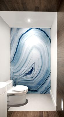 Wandafwerking in de badkamer, meer opties dan tegels alleen ...