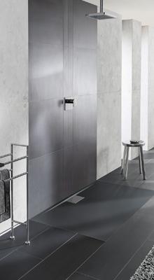 Douchecomfort met Squaro Infinity & Architectura MetalRim douchevloeren